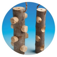 MS99 - Wooden Suet Log Feeder