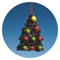 XT01 - Christmas Tree with black Sunflower seeds