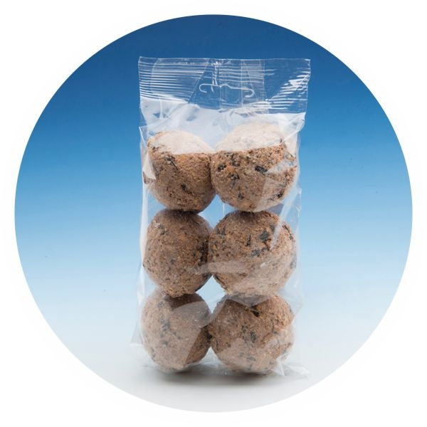 SB04-PM - 6-Pack Suet Balls with peanut butter mixture
