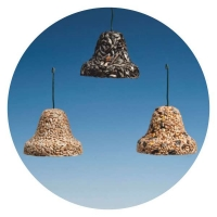 "GB02 - GIANT ""Bell"" with black Sunflower seed & Suet"